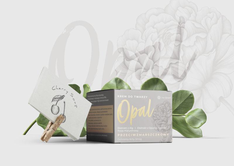 projekt opakowania kremu opal cherry soap