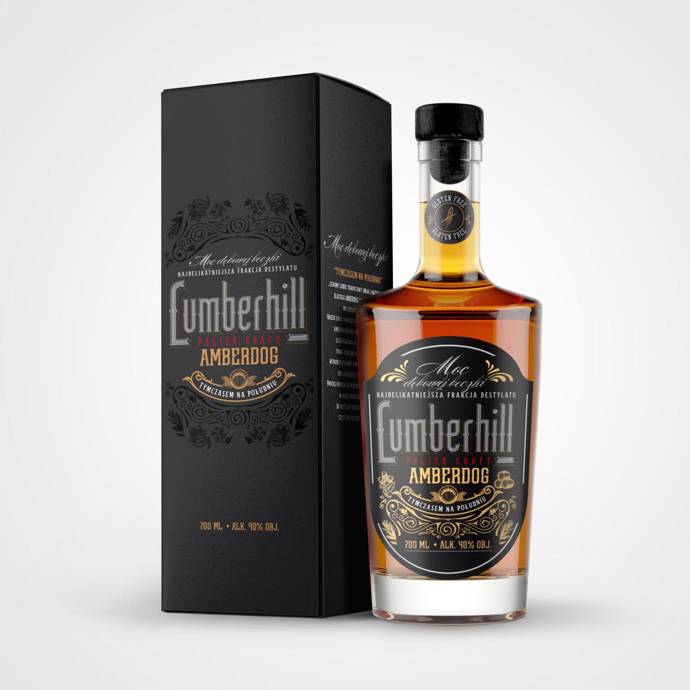 Projekt Lumberhill packaging label