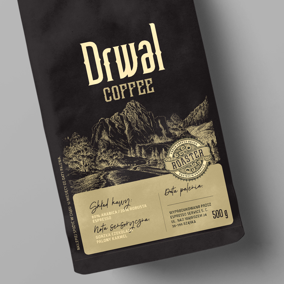 Projekt Coffee packaging design